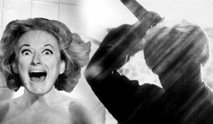Phyllis Diller in the iconic shower scene.